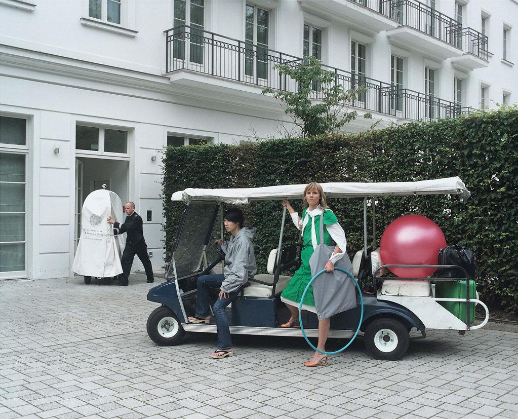 Shintaro Imai, composer and Susan Pietzsch, jewellery-artist and curator, »Kempinski Grand Hotel«, Heiligendamm (DE), 09/07